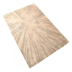 Cyan Designs 5 X 7 1/2 Taupe Birch Polyester Rug Made in the United States