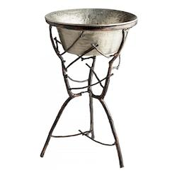 Cyan Designs Nickel Silver Sprig 31 Inch Tall Aluminum and Iron Planter