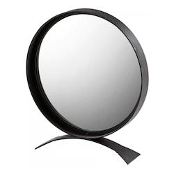 Cyan Designs Matte Black 27.25 x 24 Orbem Circular Iron Frame Mirror Made in India