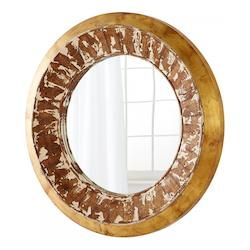 Cyan Designs Pine 7 Inch Diameter Odyssey Wood Mirror