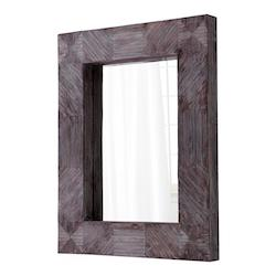 Cyan Designs Brown 47.75 x 37 Gnosis Rectangular Wood Frame Mirror