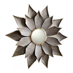 Cyan Designs Graphite 7 Inch Diameter Blossom Iron Mirror