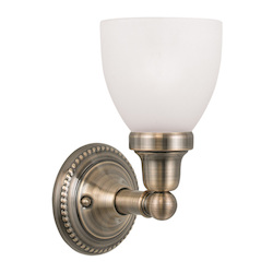 Livex Lighting Antique Brass Classic 1 Light Bathroom Sconce