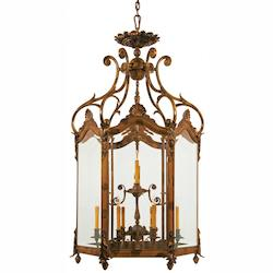 Minka Metropolitan Twelve Light Oxide Bronze Clear Bevelld Glass Framed Glass Foyer Hall Fixture