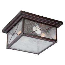 Nuvo Vega 2 Lt Outdoor Flush Fixture W/ Clear Seed Glass - Classic Bronze