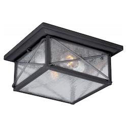 Nuvo Wingate 2 Lt Outdoor Flush Fixture W/ Clear Seed Glass - Textured Black