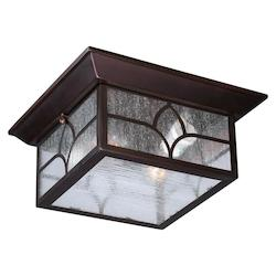 Nuvo Stanton 2 Lt Outdoor Flush Fixture W/ Clear Seed Glass - Claret Bronze