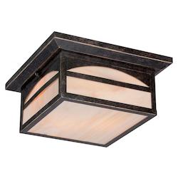 Nuvo Canyon 2 Lt Outdoor Flush Fixture W/ Honey Stained Glass