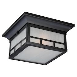 Nuvo Drexel 2 Lt Outdoor Flush Fixture W/ Frosted Seed Glass - Stone Black