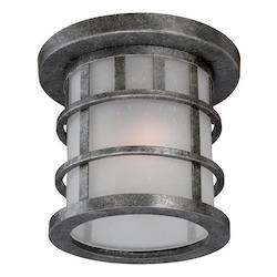 Nuvo Manor 1 Lt Outdoor Flush Fixture W/ Frosted Seed Glass - Aged Silver