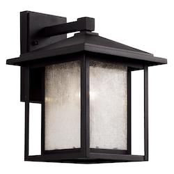 Trans Globe 1Lt Wall Lantern-Md-Seeded-Bk