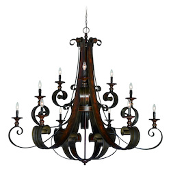 Craftmade 12 Light Three Tier Chandelier