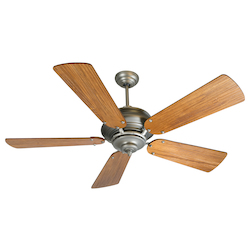 Craftmade Pewter Townsend 52in. 5 Blade Indoor Ceiling Fan - Blades, Remote Included
