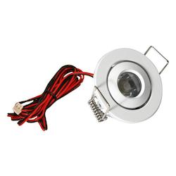 American Lighting Led Mini Swivel Puck Light, 1.25 Watts, 350Ma Constant Current, White