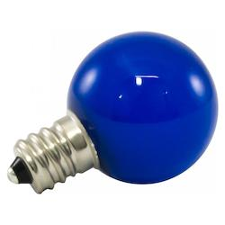 American Lighting Premium Grade Led Lamp Small Globe, Candleabra Base, Frosted Blue Glass, Wet Loc