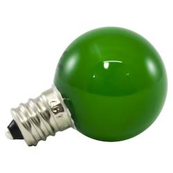 American Lighting Premium Grade Led Lamp Small Globe, Candleabra Base, Frosted Green Glass, Wet Lo
