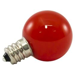American Lighting Premium Grade Led Lamp Small Globe, Candleabra Base, Frosted Red Glass, Wet Loca