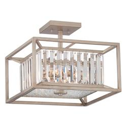 Designers Fountain Aged Platinum Linares 3 Light Semi-Flush Ceiling Fixture