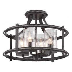 Designers Fountain Artisan Pardo Wash Palencia 4 Light Semi-Flush Ceiling Fixture
