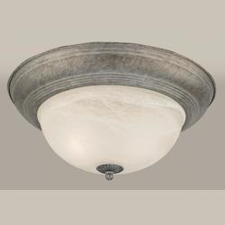 Forte Gray Bowl Flush Mount