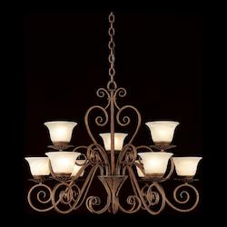 Forte Rust Up Chandelier