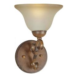 Forte Rust Wall Light