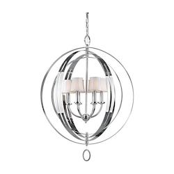 Forte Six Light Chrome Up Chandelier