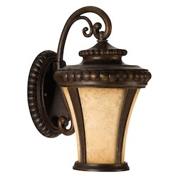 Craftmade Peruvian Bronze Prescott 1 Light LED Outdoor Wall Sconce - 8 Inches Wide