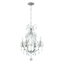 Craftmade 4 Light Mini Chandelier In Brushed Polished Nickel Finish