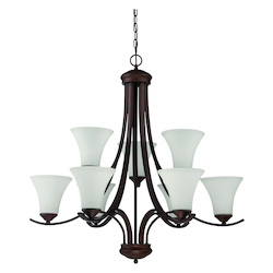 Craftmade 9 Light Chandelier In Oiled Bronze Finish