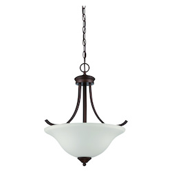 Craftmade 3 Light Pendant In Oiled Bronze Finish