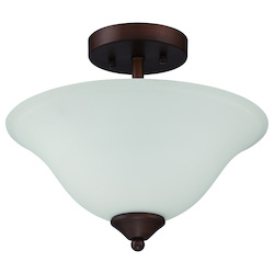 Craftmade 2 Light Semiflush In Oiled Bronze Finish With Frosted Glass