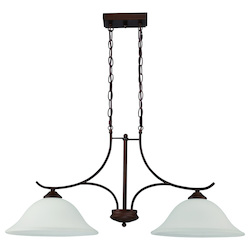 Craftmade 2 Light Island Pendant In Oiled Bronze Finish