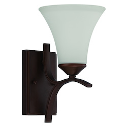 Craftmade 1 Light Wall Sconce In Oiled Bronze Finish And Frosted Glass