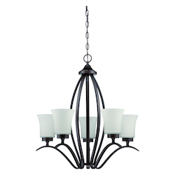 Craftmade 5 Light Chandelier In Aged Bronze Finish