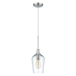 Craftmade 1 Light Pendant With Clear Glass And Polished Nickel Finish