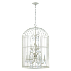 Craftmade 9 Light Chandelier In French White Finish