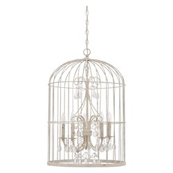Craftmade 5 Light Chandelier In French White Finish
