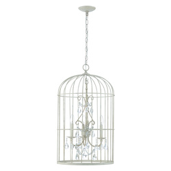 Craftmade 3 Light Chandelier In French White Finish