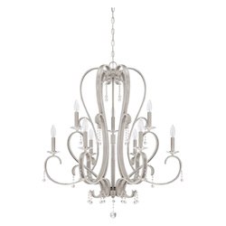 Craftmade 9 Light Chandelier In Brushed Polished Nickel Finish