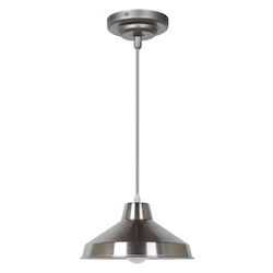 Craftmade 1 Light Polished Nickel Pendant With Metal Shade