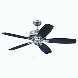 Craftmade 52 Ceiling Fan With Blades In Polished Nickel Finish