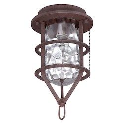 Craftmade Outdoor Cage Light Kit With Rustic Iron Finish