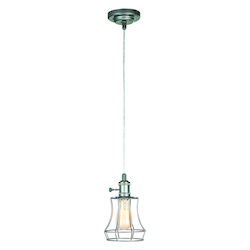 Craftmade 1 Light Mini Pendant With Wired Cage