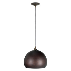 Craftmade 1 Light Pendant With Metal Grunge Shade