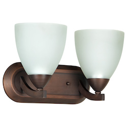 Craftmade 2 Light Vanity With Old Bronze Finish