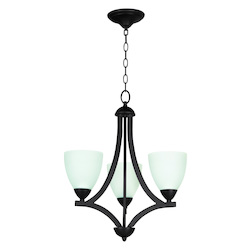 Craftmade 3 Light Chandelier With Oiled Bronze Finish