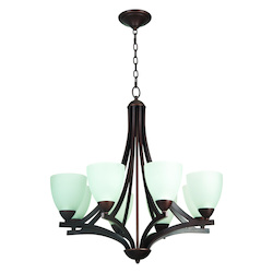 Craftmade 8 Light Chandelier Light With Oiled Bronze Finish