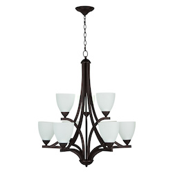 Craftmade 9 Light Chandelier Light With Bronze Finish