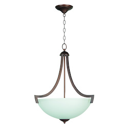 Craftmade 3 Light Inverted Pendant With Oiled Bronze Finish